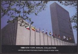 UN - United Nations New York 1989 MNH Souvenir Folder - Year Pack - New York – UN Headquarters