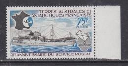 TAAF 1974 25e Anniversaire Du Service Postal 1v ** Mnh (32201) - Franse Zuidelijke En Antarctische Gebieden (TAAF)