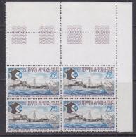 TAAF 1974 25e Anniversaire Du Service Postal 1v  Bl Of 4 ** Mnh (32201A) - Franse Zuidelijke En Antarctische Gebieden (TAAF)