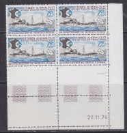 TAAF 1974 25e Anniversaire Du Service Postal 1v  Bl Of 4 (printing Date) ** Mnh (32201B) - Franse Zuidelijke En Antarctische Gebieden (TAAF)