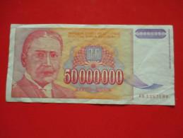 50 000 000  Dinara 1993.Circulated - Yugoslavia