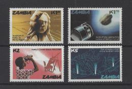 ZAMBIE . YT  349/352  Neuf **  Passage De La Comète De Halley  1986 - Zambie (1965-...)
