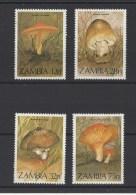 ZAMBIE . YT  313/316  Neuf **  Flore. Champignons  1984 - Zambie (1965-...)