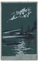 Carte Artistique Signée L. Tauzin  Cuirassé Carte Argent Aluminium - Guerre