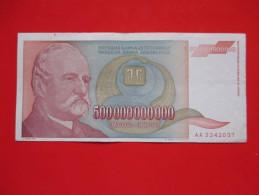 X1- 500 000 000 000 Dinara 1993.Yugoslavia- Five Hundred Billion Dinars- Circulated (AA) - Yugoslavia