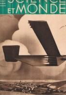1931 N°5 SCIENCE ET MONDE Avion Fusée De Demain,Film Parlant, Le Coeur, L´univers En 1931,Transsaharien,Les Bostryches - Sciences & Technique