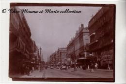 MARSEILLE CANNEBIERE - TRAMWAY GRAND BAZAR PARFUMERIE COIFFEUR MAXIBIERE SOIE - PHOTO 12 X 9 - Automobili