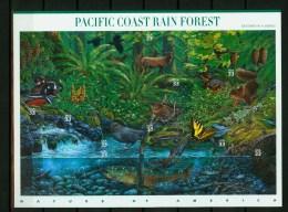 USA United States 2000,10V In Sheetlet,birds,vogels,ois Eaux,vögel,Pacific Coast Rain Forest,MNH/Postfris, (L2565) - Vogels