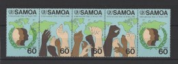 SAMOA  . YT  588/592  Neuf **  Année Internationale De La Jeunesse  1985 - Samoa
