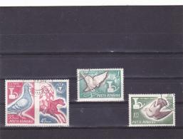 # 187 PIGEON, BIRD, POSTMARK DAY, 1965, Mi 2457/59. MNH**, FULL SET, ROMANIA - 1948-.... Républiques