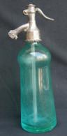 VERY RARE VINTAGE SODA SIPHON BOTTLE BOUTEILLE BLUE GLASS - BRANJIN VRH, BARANYAVAR - BARANYA - Soda