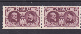 # 188   KING FERDINAND AND KING CAROL, Mi 308  , MNH**,IN PAIR, ROMANIA - 1918-1948 Ferdinand, Charles II & Michael