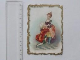 CHROMO DECOUPIS Gaufré: Amoureux Déclaration D'Amour - Fillette Garçonnet Demoiselle - LE HAVRE PONTHIEU - Enfants