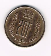 °°° LUXEMBURG  20 FRANCS 1983 - Luxembourg
