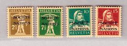 Schweiz Dienstmarken SDN DIII 1928/31 Serie #27-30 * Signiert Und Attest - Service