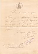 RECU DU GRAND HOTEL VICTORIA A PISE DU 6 NOVEMBRE 1919 - Italia