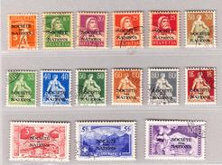 Schweiz Dienstmarken SDN DIII 1922 Komplette Serie #1-15 Gestempelt - Service