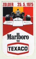 AUTOCOLLANTS . STICKER .  1975 . ZOLDER . MARLBORO TEAM . TEXACO . GOOD YEAR . - Autocollants