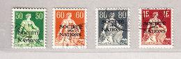 Schweiz Dienstmarken SDN DIII 1935/1944 # 9z Bis 12z Signiert - Service