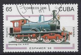 "Cuba  1996  ""Espamer`98"" Havana (o) Locomotives - Cuba"