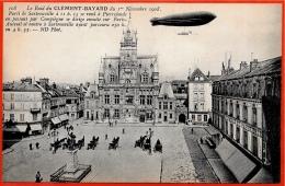 """CPA 60 COMPIEGNE Oise """"Le Raid Du Clément-Bayard"""" Novembre 1908 * Aviation Dirigeable Photo-montage - Zeppeline"""