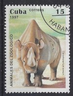 Cuba  1997  Zoo Animals (o) White-Rhino - Cuba