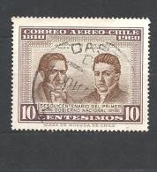 CILE   ( CHILE)  -   1965 The 150th Anniversary Of 1st National Government 615O PAJ. Gaspar Marin And J. Gregorio Argome - Chile