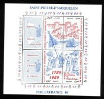 SPM - 1989 - BF N° 3 - Neuf ** - Bicentenaire De La Révolution Française - Blocs-feuillets