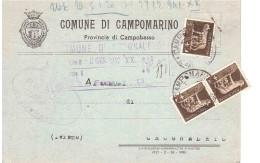 COMUNE DI CAMPOMARINO CAMPOBASSO - 1900-44 Victor Emmanuel III