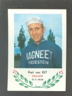 Chromo ( 6239 ) Cyclisme - Coureur - Wielrenner - Renner - Cycliste : N° 108 Pief Van Est - Wielrennen