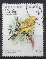 Cuba  1997  Birds (o) Saffron Finch - Cuba
