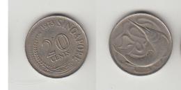 SINGAPOUR 20 CENT 1973 - Monedas