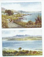 ECOSSE Scotland Lot De 2 Cartes CpAa - R/V Des 2 Cartes Bowen Craigs /The Cumbraes And Arran Hills--Editions VALENTINE´S - Ayrshire