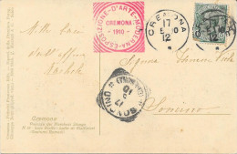 ESPOSIZIONE D'ARTE MODERNA CREMONA 1910 VG. - 1900-44 Victor Emmanuel III