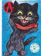 CPM  Chat Noir Cat Catze Animal Humanisé Position Humaine Anarchie Siné Hebdo Caricature Tirage Limité JIHEL / LARDIE - Lardie