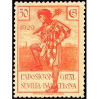ES443STV-LFT***443STCSC.Spain.Esgane.Vestidos.PRO EXPOSICION SEVILLA BARCELONA.1929 (Ed 443**) - Sin Clasificación