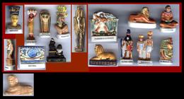 Lot De 16 FÈVES EGYPTE - PHARAON  NEFERTITI  ANUBIS  THOT  PECTORAL SCRIBE HORUS AKHENATON - Countries