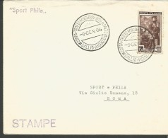 RIF14----   ITALIA REPUBBLICA,  ANNULLI FILATELICI,       COPPA  TROFEO  SALTO,   1954,