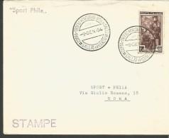 RIF14----   ITALIA REPUBBLICA,  ANNULLI FILATELICI,       COPPA  TROFEO  SALTO,   1954, - Salto