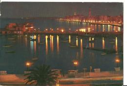 Bari (Puglia) Porticciolo E Lungomare Notturno, Small Harbour And Walk Along The Sea By Night - Bari