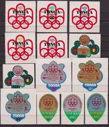 Tonga 1976 MNH Pacific Olympics Montreal Sport Set - Tonga (1970-...)