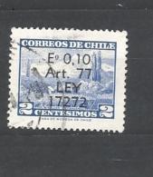 CILE   ( CHILE)  - 1970, Welfare Overprint 1v  Used - Chile