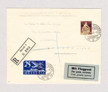 Schweiz Luftpost Handley Page 17.8.1923 Schweizer Luftpost  R-Brief Von Zürich Nach London Siehe Attest - Autres Documents
