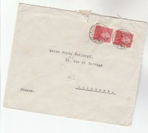 1935 HUNGARY COVER Stamps 2x LISZT To Mulhouse FRANCE Music
