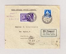 Schweiz Luftpost Handley Page 1.9.1923 Basel Brief Nach Paris 3-Zeil Stempel Basel 2 Flugpost 1.9.1923 Spätere Flug - Autres Documents