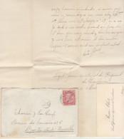 EAC N°58 Malines -> Bruxelles (texte Et Carte D'un Sous Officier) 1904 (2 Scans) - 1893-1900 Thin Beard