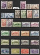 Lot De 26 Timbres Différents REUNION  ~  Emis De 1933 à 1943  Colonie Française