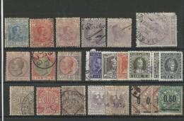 ITALIE - PETIT LOT DE TIMBRES FISCAUX TOUS ETATS - 1861-78 Victor Emmanuel II.
