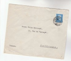 1935 HUNGARY COVER Stamps MUNKACSY To Mulhouse FRANCE - Hungary