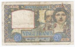 FAY 12/14 - 20 FRANCS SCIENCE ET TRAVAIL - 08/05/1941 - TRES BEAU - 1871-1952 Anciens Francs Circulés Au XXème